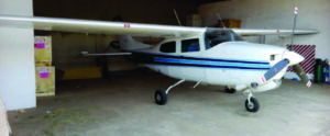 Cessna T210M Blue and White